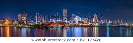 Иокогама · Skyline · ночь · Япония · здании · небоскреба - Сток-фото © vichie81