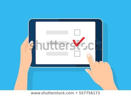 Online Survey on Blue in Flat Design. Stock photo © tashatuvango