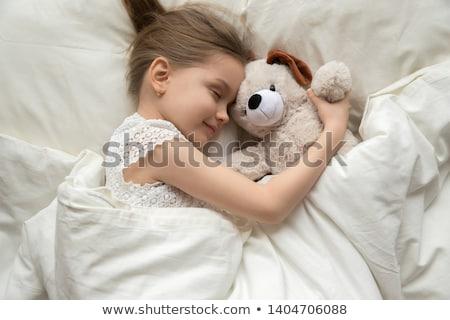 Girl with plush toy Stock photo © ocskaymark