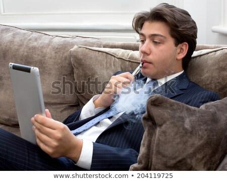 dohány · cigaretta · fa · asztal · textúra · egészség · háttér - stock fotó © nessokv