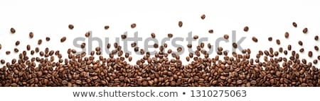 Roasted Coffee Beans Border Stock photo © dgilder