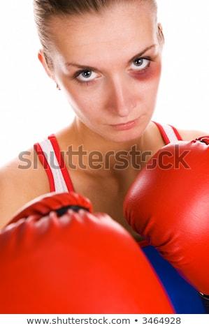 Mulher boxeador contusão cara menina mão Foto stock © Nejron