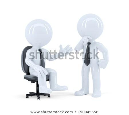 無限 · オフィス · 表 · 孤立した · 白 · 3dのレンダリング - ストックフォト © kirill_m