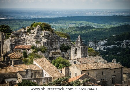 Old catapult in Les Baux-de-Provence, France Stock photo © Nejron