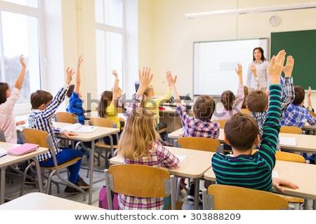 Foto stock: Grupo · primário · sala · de · aula · escolas · criança