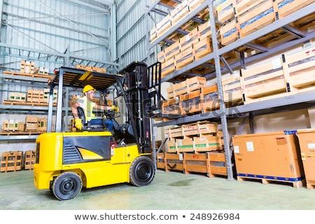 工場労働者 · フォーク · リフト · ロード · 男 - ストックフォト © monkey_business