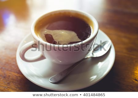 Iştah açıcı siyah kahve ahşap gıda Stok fotoğraf © OleksandrO