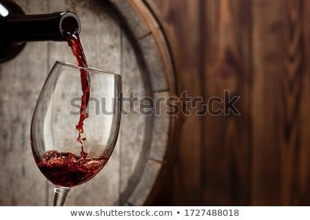 piros · martini · fehér · közelkép · koktél · felszolgált - stock fotó © 26kot