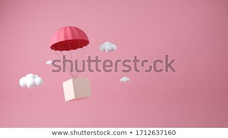 парашютом скидка знак 3d иллюстрации белый бизнеса Сток-фото © montego