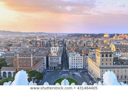 beautiful view of piazza venezia rome stock photo © tannjuska