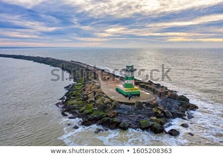 桟橋 海 オランダ 海 青 ストックフォト © gigra