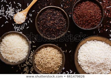 aislado · marrón · arroz · principal · alimentos - foto stock © zhekos