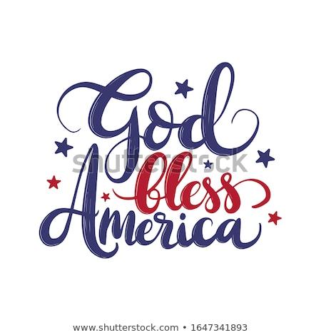 Бога · Америки · американский · флагами · дизайна · фон - Сток-фото © SwanOmurphy