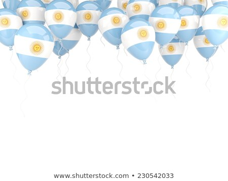 Flying balloons with flag of argentina Stock photo © MikhailMishchenko