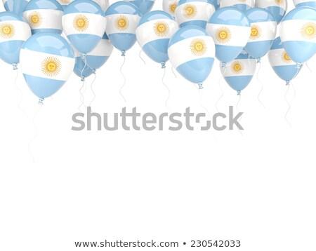 Voador balões bandeira Argentina isolado branco Foto stock © MikhailMishchenko