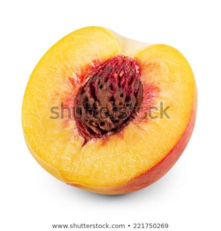 Dos melocotón maduro aislado blanco frutas Foto stock © fresh_4870785