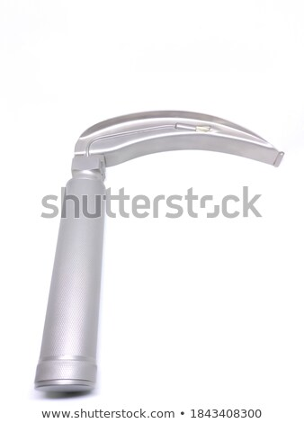 Laryngoscope handle with a set of blades stock photo © cwzahner