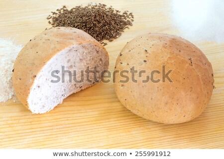 Chleba kminek nasion odizolowany biały Zdjęcia stock © OleksandrO