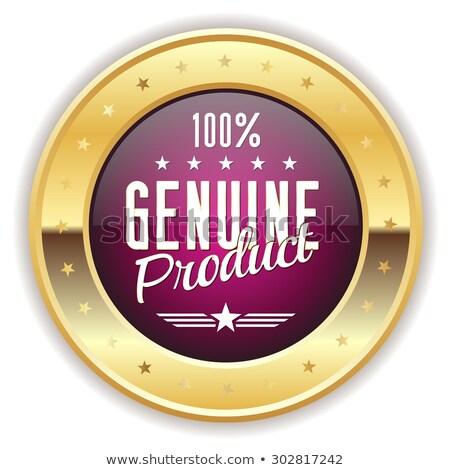 Genuíno produto roxo vetor ícone botão Foto stock © rizwanali3d