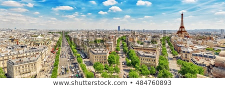 Kilátás Párizs fölött ház utca templom Stock fotó © sarymsakov