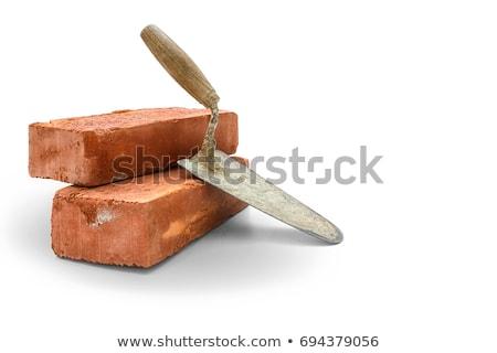 bricks and trowel Stock photo © Marfot