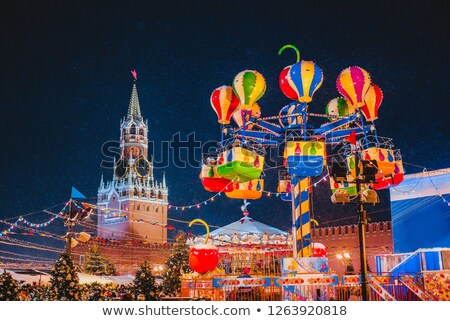 Kremlin toren nacht Moskou rivier Stockfoto © Mikko