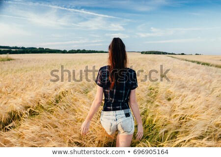 Young Person Walking On Clouds Stock photo © stevanovicigor