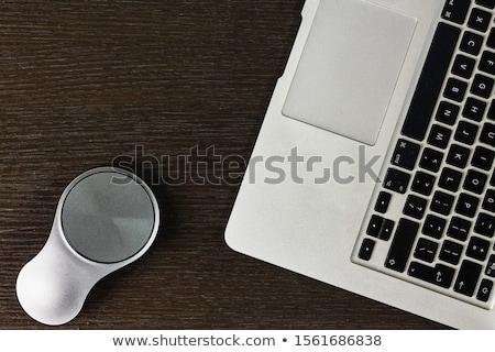 Portable ordinateur portable isolé blanche noir suivre Photo stock © tony4urban