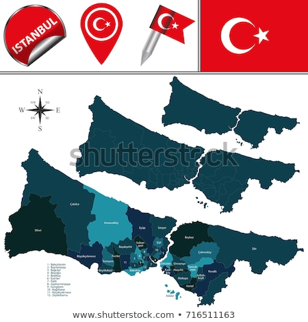 Istanbul Map with administrative districts where Umraniye is pul Stock photo © Istanbul2009