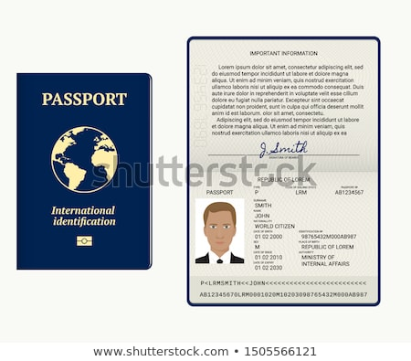 the american visa in a passport page usa stock photo © taiga
