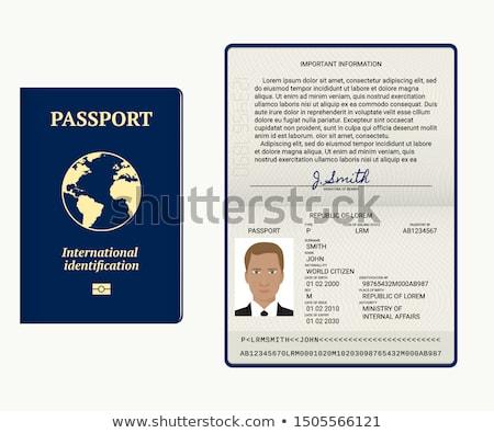 Visa passeport page USA affaires Photo stock © Taiga
