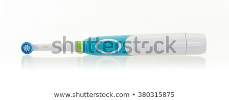 elektrische · tandenborstel · Blauw · witte · object - stockfoto © ozaiachin