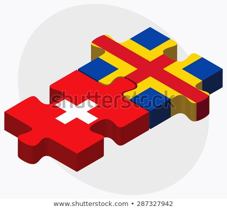 Switzerland and Aaland Islands Flags  Stock photo © Istanbul2009