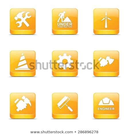 строительство · инструменты · желтый · вектора · кнопки · икона - Сток-фото © rizwanali3d