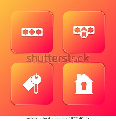 protection web internet square vector orange icon design set stock photo © rizwanali3d