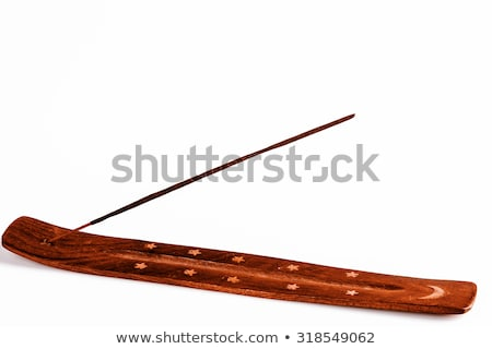 Incense stick on a wooden support on a white background Stock photo © jarin13