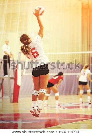 Mujer volea pelota partido verano Foto stock © wavebreak_media