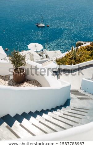 лестницы шаги ведущий морем роскошь отель Сток-фото © master1305