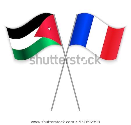 Frankrijk Jordanië vlaggen puzzel geïsoleerd witte Stockfoto © Istanbul2009