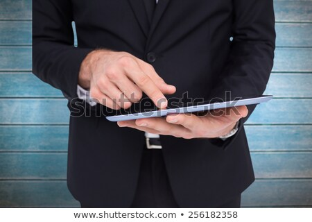 mid section of man working on computer and digitizer Stock photo © wavebreak_media