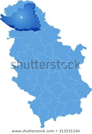 Térkép Szerbia dél kerület ki izolált Stock fotó © Istanbul2009
