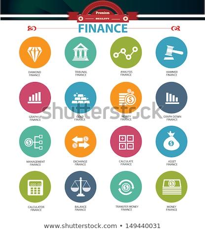 Gewelf groene vector icon ontwerp digitale Stockfoto © rizwanali3d