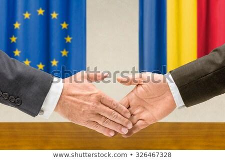 Romênia apertar a mão negócio mãos sucesso Foto stock © Zerbor