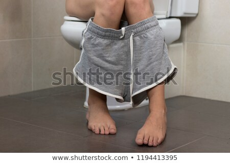 girl sits in a toilet Stock photo © cookelma