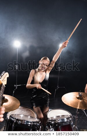 Drummer near drumkit stock photo © Paha_L