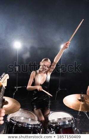 Trommelaar teen jonge jeugd band studio Stockfoto © Paha_L