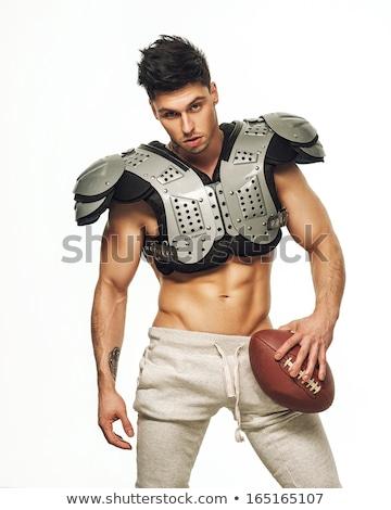 shirtless · voetballer · speler · bal · tonen - stockfoto © stokkete