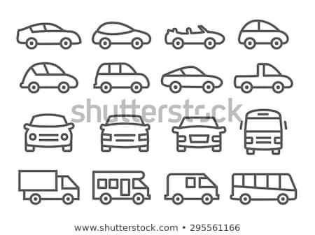 Mentő autó vonal ikon sarkok háló Stock fotó © RAStudio