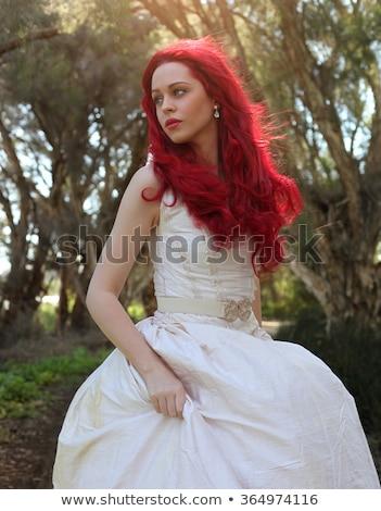 Stok fotoğraf: çekici · kadın · kırmızı · sihir
