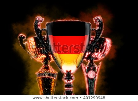 Trophy cup textured with flag of Germany. Digital illustration Stock photo © Kirill_M